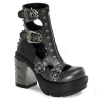 SINISTER-61 Dark Grey/Black Faux Leather